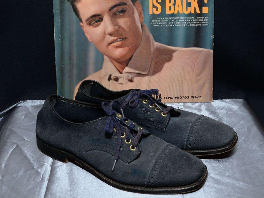 MumptyStyle Elvis Blue Suede shoes
