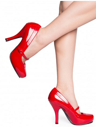 MumptyStyle red patent Mary Janes