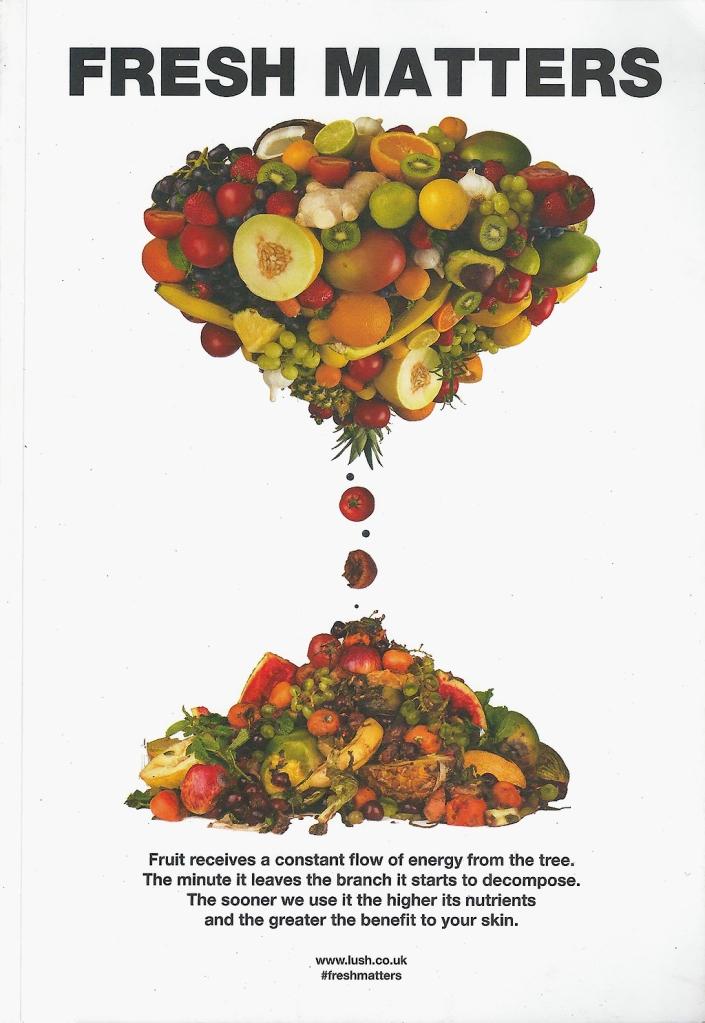 Lush Fresh Matters booklet