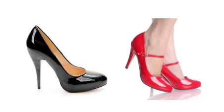 Black and red  patent