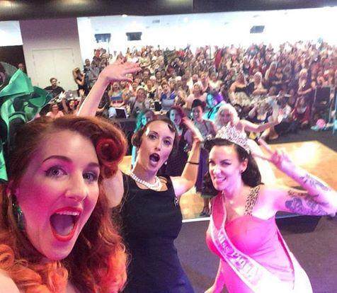Crowd selfie